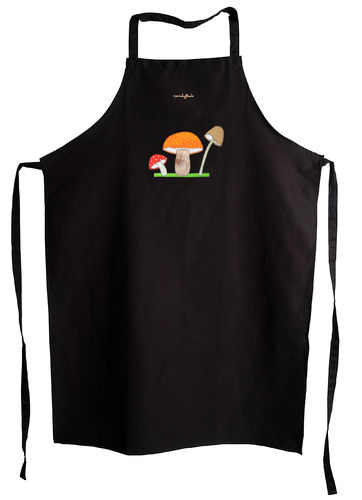 Apron with mushrooms