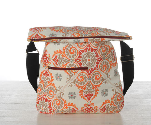 Orange printed bag