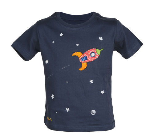 T-shirt with a rocket