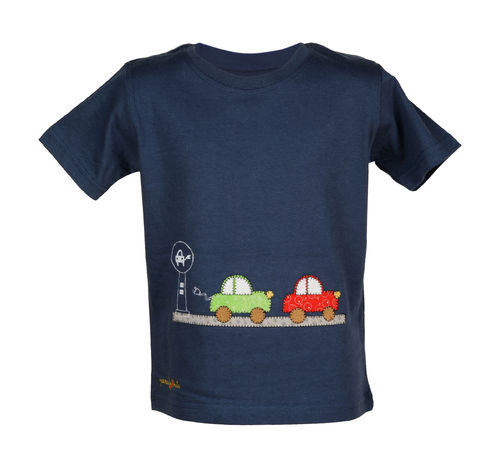 T-shirt with two electric cars