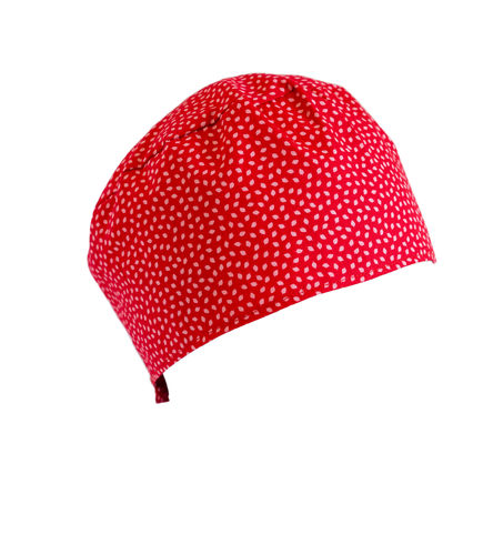 red oncological hat